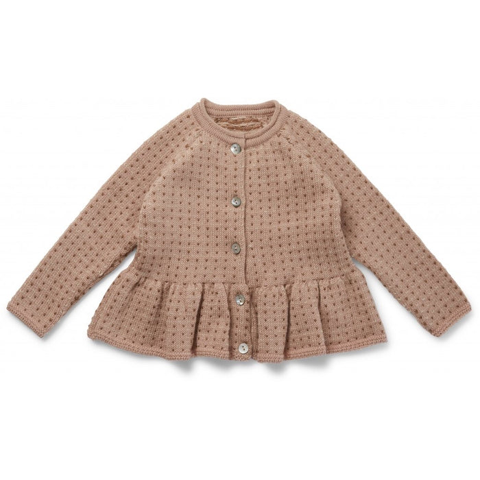 Konges Sløjd Meo Frill Cardigan Wool // Rose Blush, Honey Comb