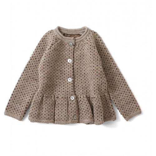 Konges Sløjd Meo Frill Cardigan Wool // Paloma Brown/ Honey Comb