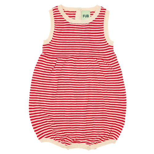FUB Baby Romper Suit // Ecru/Red by FUB - Mini Pop Style