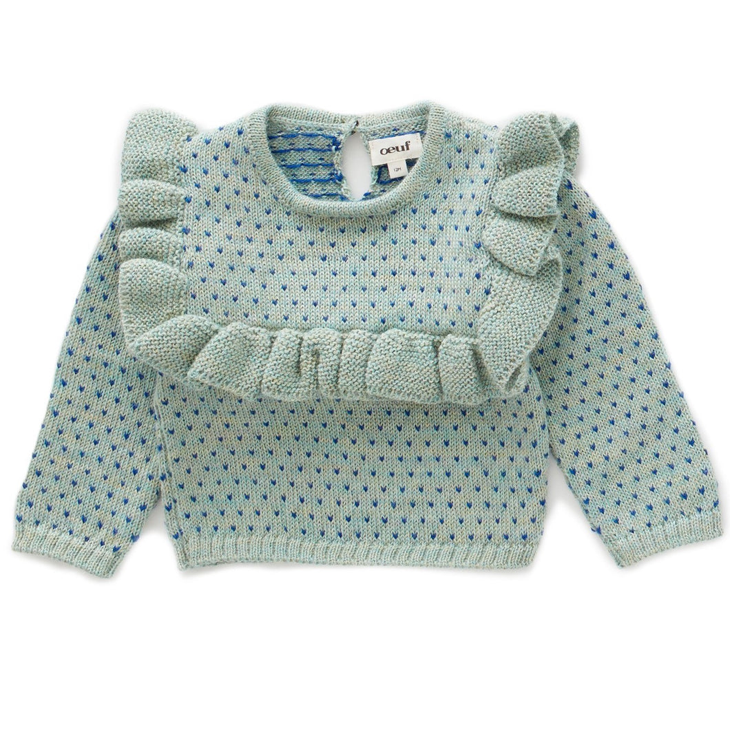 Oeuf Frou Frou Top // Ocean/Electric Blue by Oeuf - Mini Pop Style