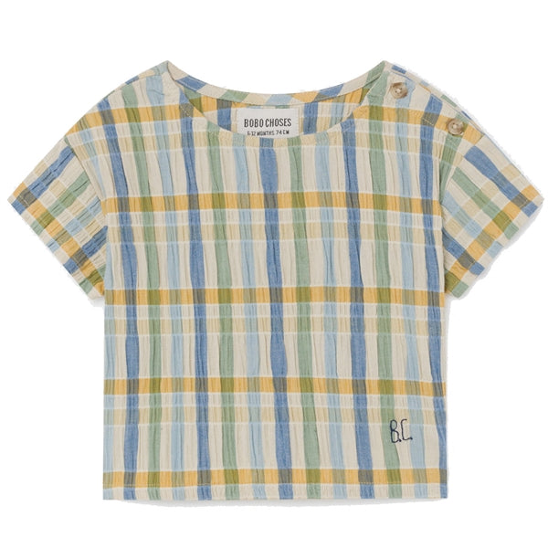 BOBO CHOSES Checker Blouse by BOBO CHOSES - Mini Pop Style
