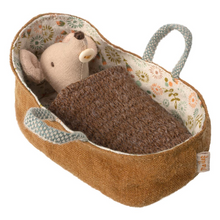 Load image into Gallery viewer, MAILEG Baby Mouse in Carrycot by MAILEG - Mini Pop Style
