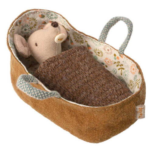 MAILEG Baby Mouse in Carrycot by MAILEG - Mini Pop Style