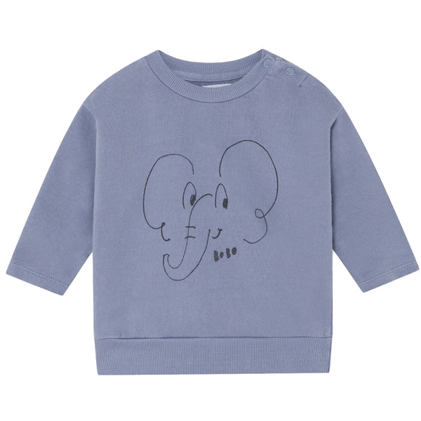BOBO CHOSES Elephant Sweatshirt by BOBO CHOSES - Mini Pop Style