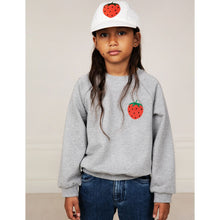 Load image into Gallery viewer, Mini Rodini Strawberry EMB Sweatshirt // Grey Melange