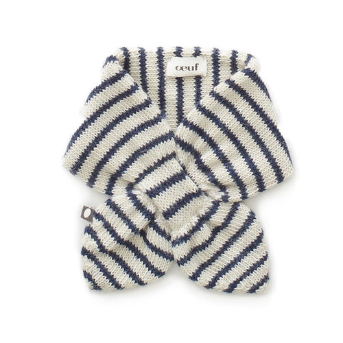 Oeuf Neckie // White/Indogo Stripes by Oeuf - Mini Pop Style