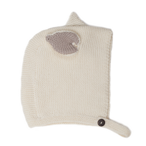 Oeuf Cat Bonnet Cotton  // White by Oeuf - Mini Pop Style