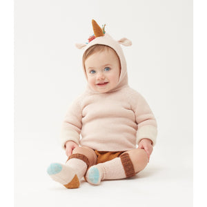 Oeuf Reversible Hoodie Alpaca // Rainbow Unicorn by Oeuf - Mini Pop Style