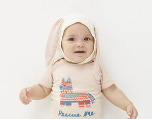 Oeuf Bunny Bonnet Cotton // Light Pink by Oeuf - Mini Pop Style