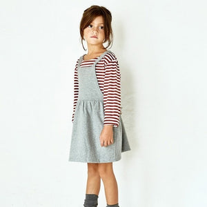 Gray Label Pinafore Dress // Blue Grey by Gray Label - Mini Pop Style