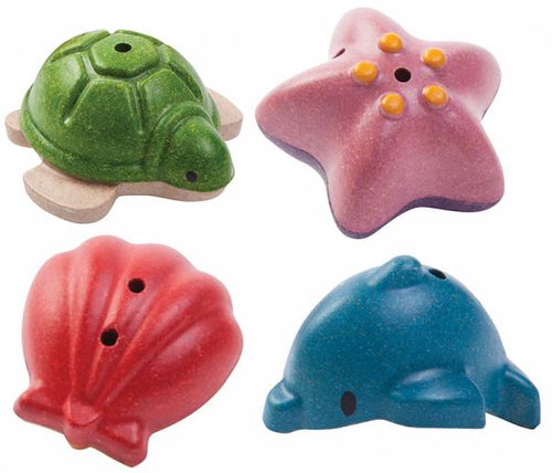 PlanToys Sea Life Bath Set by Plan Toys - Mini Pop Style