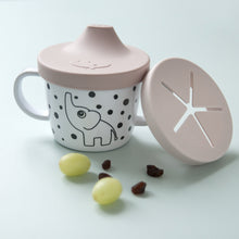 Load image into Gallery viewer, Done By Deer Silicone Spout & Snack Cup Elphee // Powder by done by deer - Mini Pop Style