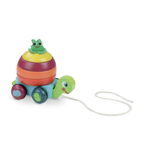 VILAC Turtle Stacker Pull Toy - Mini Pop Style