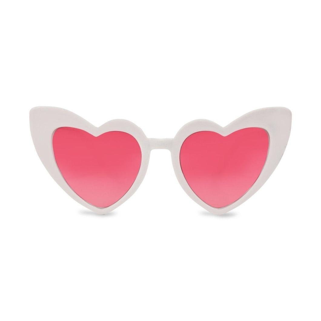MILK X SODA Heart Sunglases  // White by MILK X SODA - Mini Pop Style