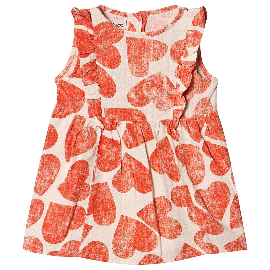 BOBO CHOSES All Over Hearts Ruffle Dress by BOBO CHOSES - Mini Pop Style