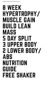MENS HYPERTROPHY for beginners