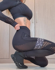 FIT SKINNZ- SLEEK & CHIC' -BLACK ONYX-LEGGINGS