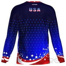 ORG USA Patriot Men's Technical Long Sleeve Running Shirt