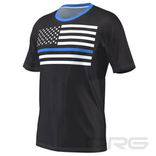 ORG Blue American Flag Men's Technical Short Sleeve Running Shirt