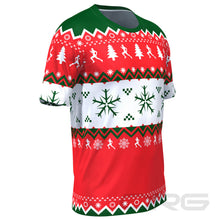 ORG Men's Ugly Christmas Sweater Short Sleeve Running Shirt