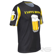 Men's I Love Beer Technical Short Sleeve Running Shirt