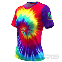Women's Tie Dye Performance Short Sleeve Running Shirt