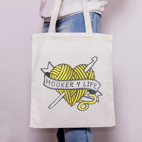 'Hooker 4 Life' Cloth Tote Bag