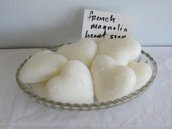 French Magnolia Heart Soap