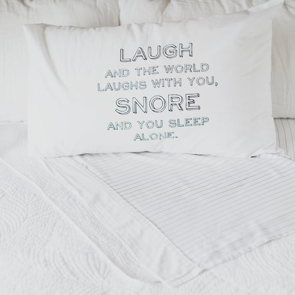 'Snore' Pillow Case