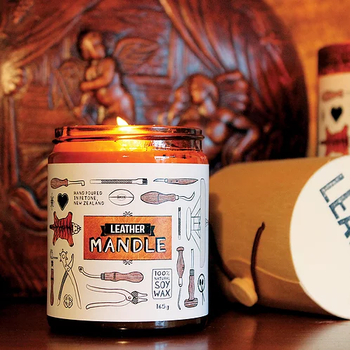 Leather Mandle - Candles for Men