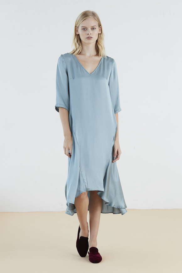Tidal Dress in Duckegg