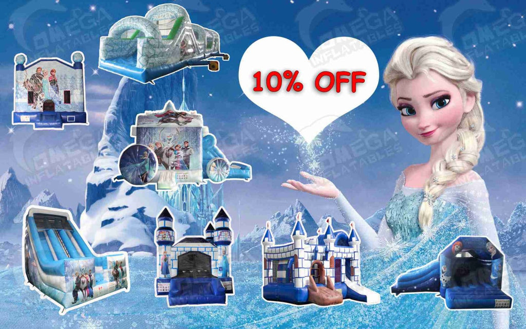 10% off for Frozen Themed Inflatables