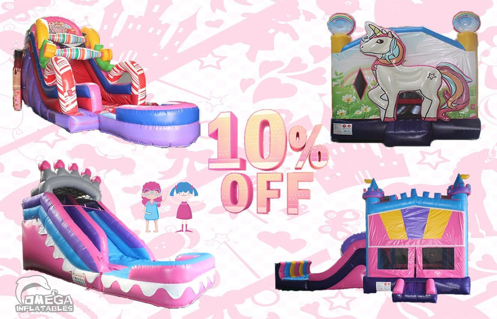 10% off for Girls Themed Inflatables