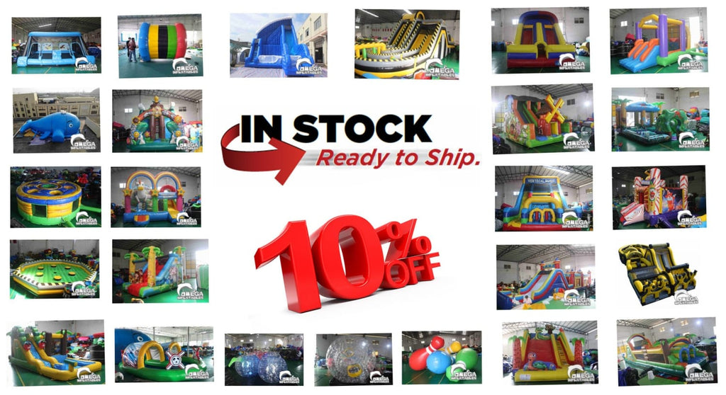 10% off in-stock inflatables