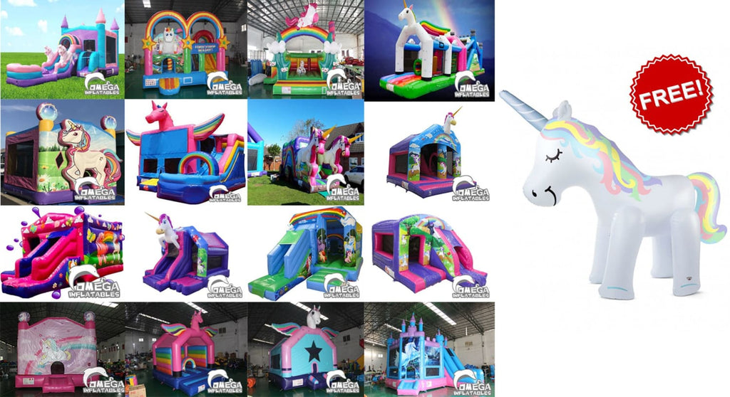 Free Inflatable Unicorn Yard Sprinkler