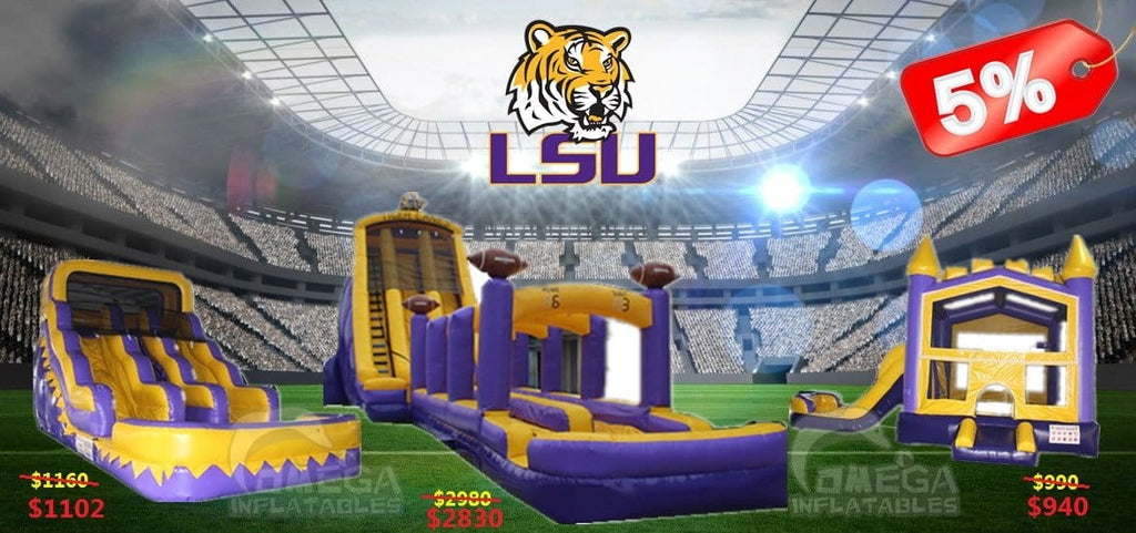 Get 5% off for any LSU themed inflatables