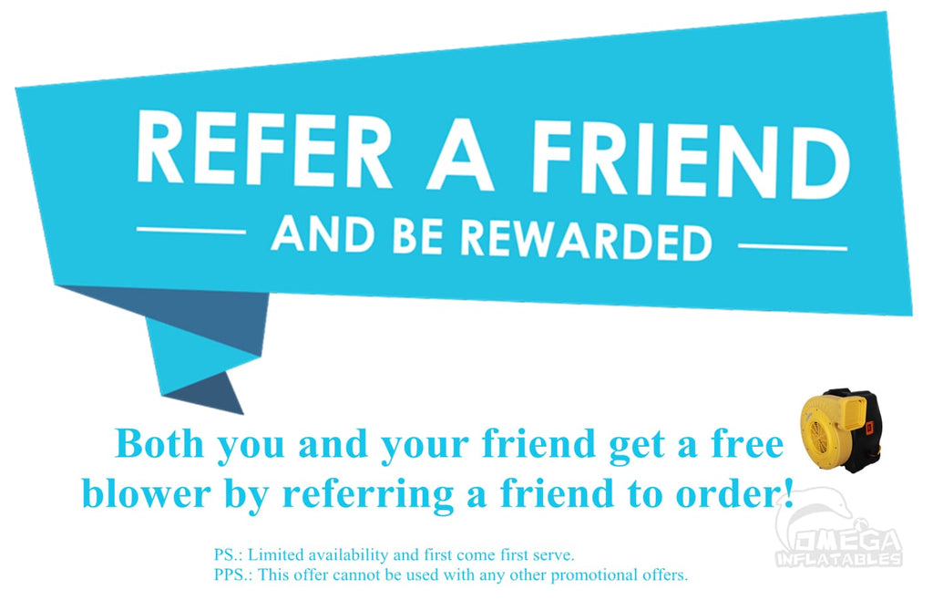Get a free blower by referring a friend to order!