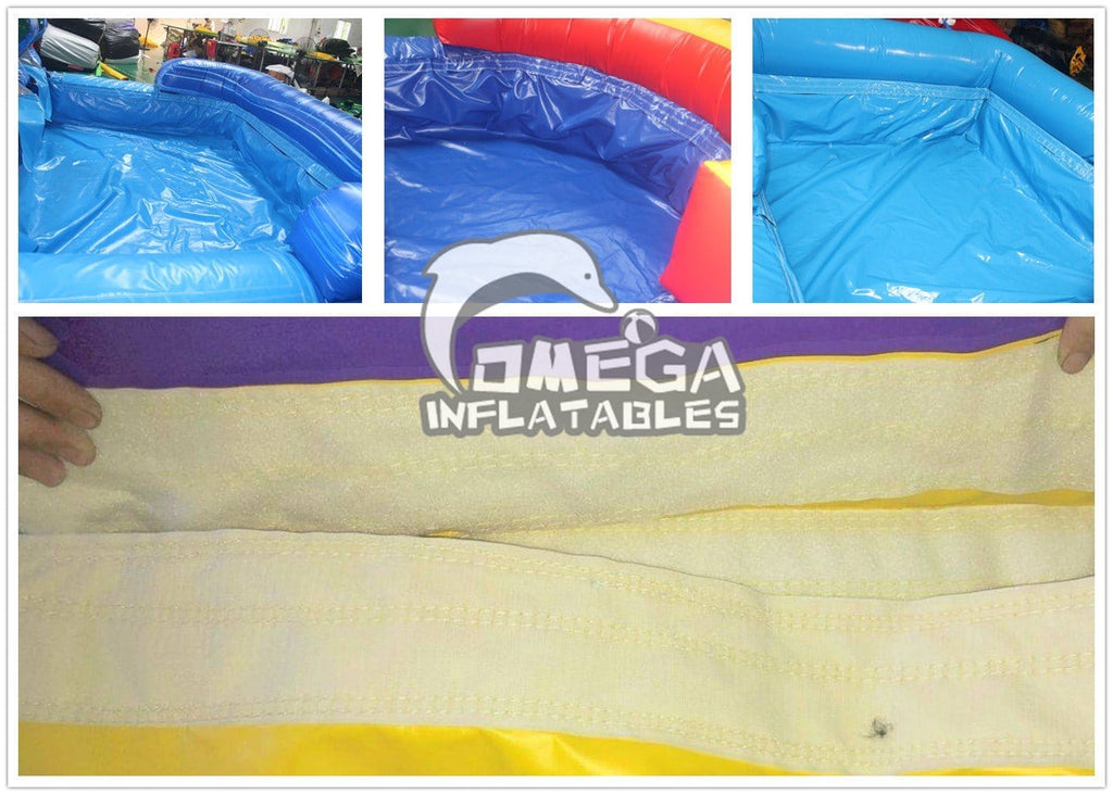 Sandwich Pool Cover for Water Slides