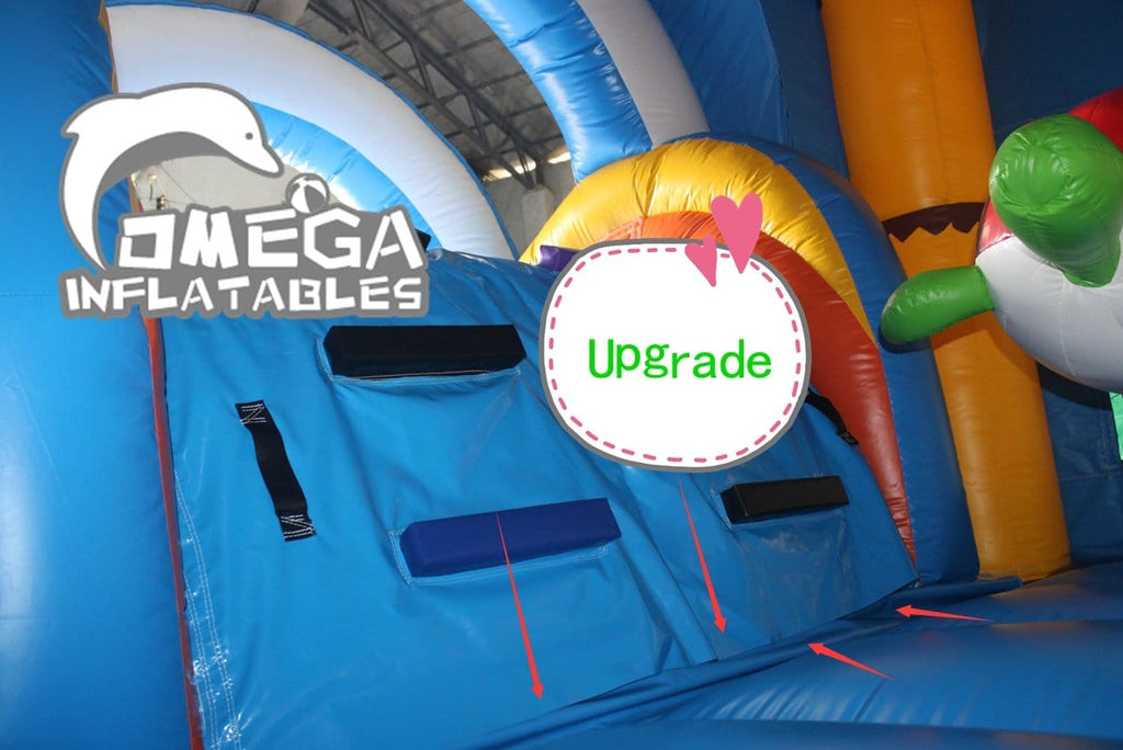 Upgrade connection between step and bounce house/castle