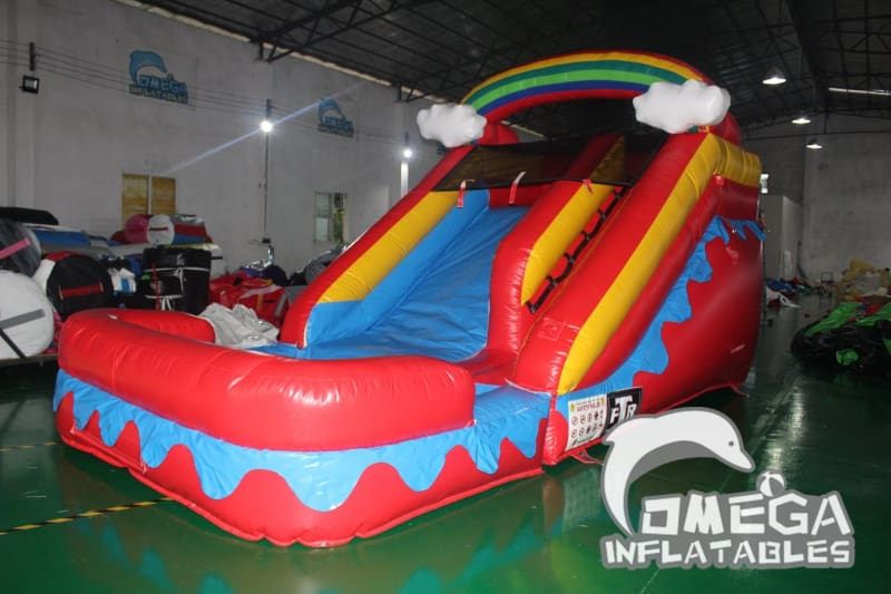 11FT Rainbow Cloud Wet Dry Slide - Omega Inflatables Factory