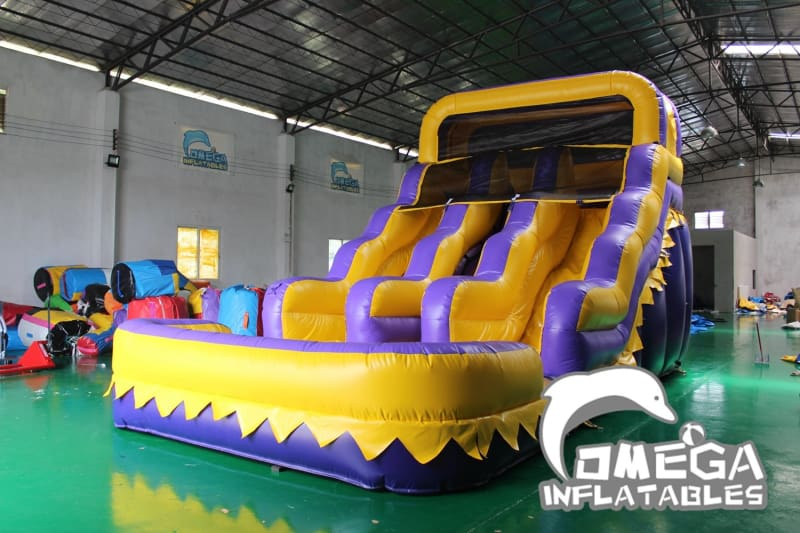 15FT LSU Tigers Themed Water Slide - Omega Inflatables Factory