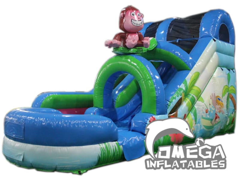 15FT Monkey Surf Inflatable Water Slide
