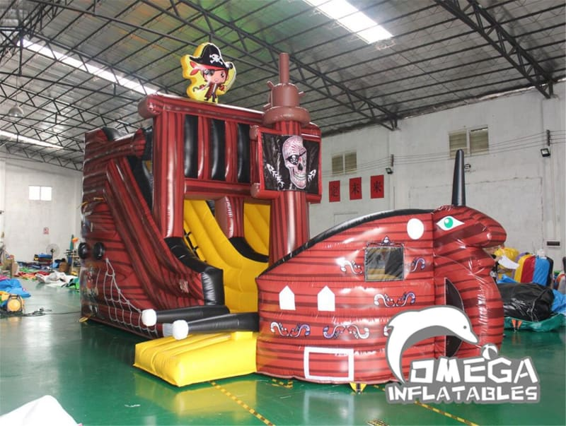 15FT Pirate Ship Dry Slide