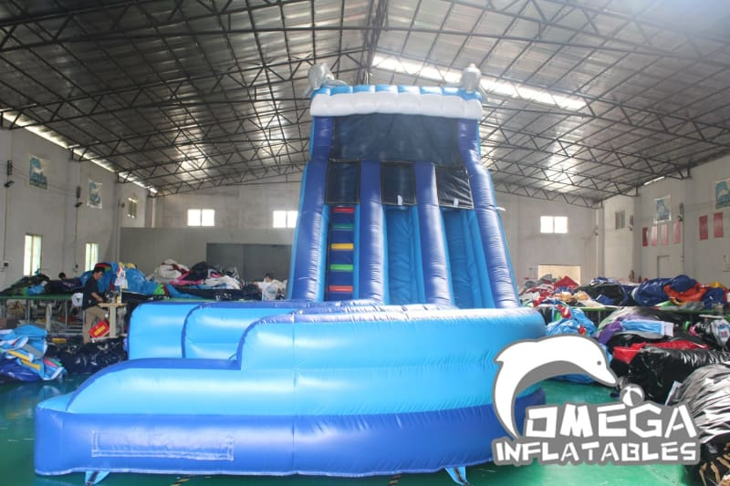 16FT Dolphin Double Dip Curve Water Slide