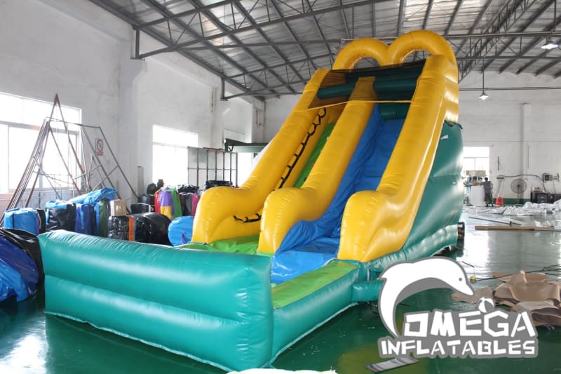 16FT Double Arches Wet Dry Slide