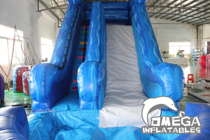 16FT Marble Blue Wet Dry Slide