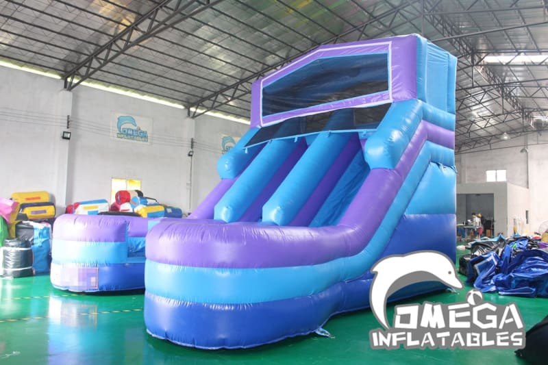 16FT Modular Dual Lane Water Slide - Omega Inflatables Factory