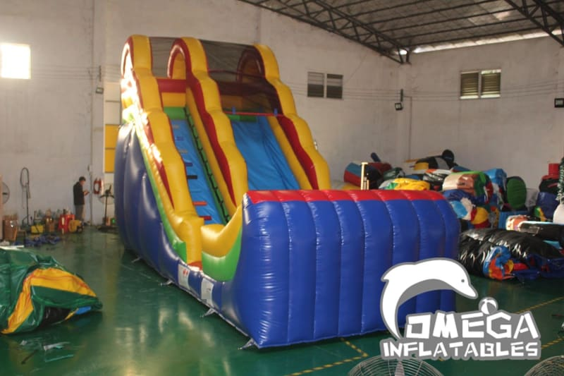 16FT Rainbow Colorful Water Slide