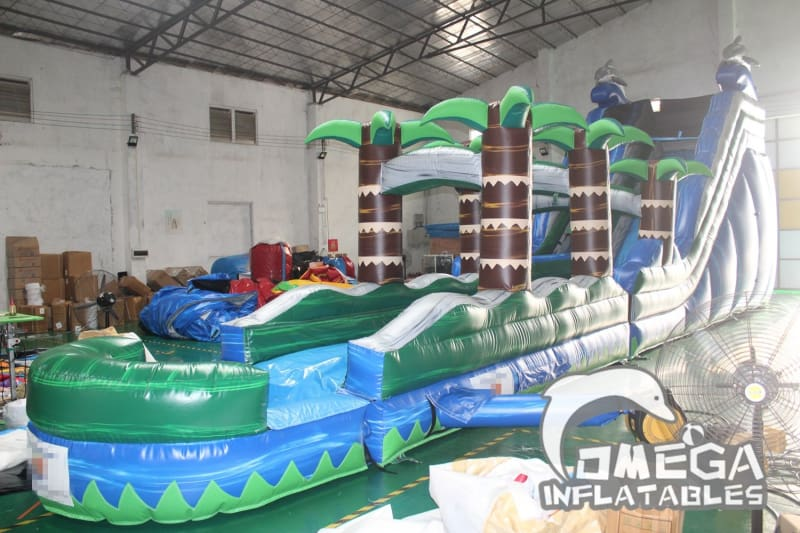 17FT Dolphin Crush Water Slide
