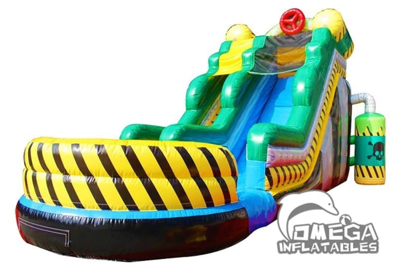 17FT Toxic Inflatable Wet Dry Slide